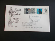 1965 Lister on First Day Cover with Llandudno FDI Cancel + Typed Add. Cat £25