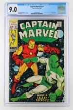 Captain Marvel #14 -NEAR MINT- CGC 9.0 VF/NM - Marvel 1969 - Iron Man App!