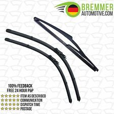 Vauxhall Corsa Hatchback D (2011 to 2015) Wiper Blade Complete Set X3 Front Rear