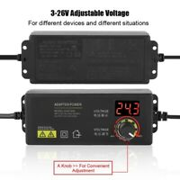 AC/DC Adjustable Power Adapter Supply 3-36V 1.7A 60W Speed Control LED Display
