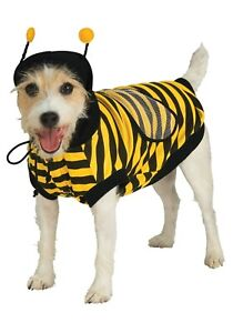 Bumblebee Dog Costume - L - Bee Antenna Hooded Shirt with Wings - Rubie's - NWT