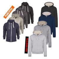 Mens Plain Hoodie Sweatshirt Hooded Zip Up Stylish Jumper Fleece Top Jacket Size