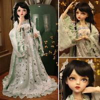 """24"""" BJD Doll Puppe 1/3 Prinzessin Mädchen Mit Veränderbaren Augen Kleidung Toys"""