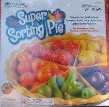 SUPER SORTING PIE preschool early years maths sorting / colours game NEW