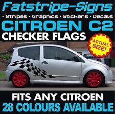 CITROEN C2 GRAPHICS CAR VINYL CHECKER FLAG STRIPES DECALS STICKERS VTR VTS 1.1