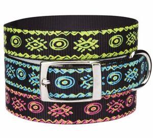 Dog Collar Artisan Nylon Collar black blue green pink Pet Collars