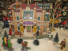 "TRAIN GARDEN VILLAGE HOUSE "" The BRADLEY ACADEMY of ARTS "" + DEPT 56/LEMAX info"