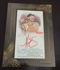 2016 TOPPS ALLEN GINTER MARIA SHARAPOVA MINI RED AUTO AUTOGRAPH TENNIS SSP 08/10