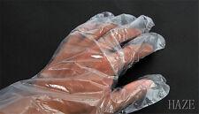 Clear Disposable Plastic Gloves Cleaning Gardening Garden Home Restaurant 100X