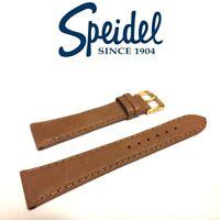 20mm SPEIDEL 630730 TAN GENUINE MATTE ENGLISH PIGSKIN STITCHED WATCH BAND STRAP