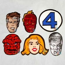Set Fantastic Four Embroidered Patches Marvel Comics 4 Silver Surfer The Thing