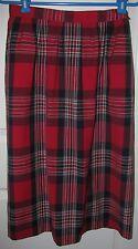 Ladies Vintage PENDLETON Petite Sz 12 Red Blue White Plaid Skirt 100% Wool Lined
