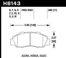 Disc Brake Pad Set Front Hawk Perf HB143N.680