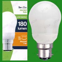 1x 5W Basse Consommation économie d'énergie LCF Mini GLS Ampoule Lumière,BC,B22
