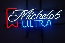 "New Michelob Ultra Neon Light Sign 20""x16"" Beer Gift Bar Real Glass"
