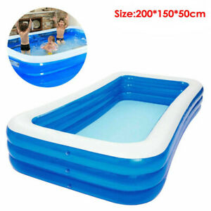 Large Family Swimming Pool Garden Outdoor Summer Inflatable Paddling Pools 2M