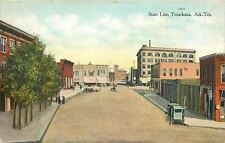 Texarkana Texas Arkansas~State Line~Shops~Stores~Delivery Wagon~1910 Postcard