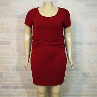 Forever 21 Plus 3X Red Sheath Dress Mock Cummerbund Waist Fitted Bodycon Jersey