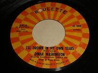 Dinah Washington: I'll Drown In My Own Tears / The Show Must Go On 45