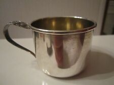 """STERLING SILVER CUP WITH HANDLE - 1 1/2"""" TALL - RRB 551 - 32 GRAMS TW - BOX S"""