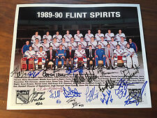 1989-90  IHL FLINT SPIRITS TEAM AUTOGRAPHED PICTURES APX 18 SIGNATURES