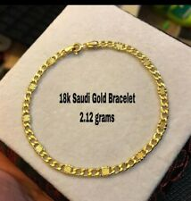 18k saudi gold bracelet, can be used for men or women, non plated nor filled