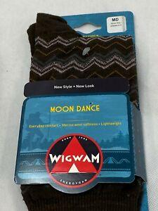 2 Pair Wigwam Moon Dance F3044 Merino Wool Socks MD Women 6-10 Chocolat