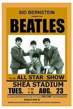1960's The Beatles at  Shea Stadium Concert  Poster 1966  2nd Printing