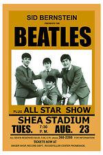British Rock: The Beatles at  Shea Stadium Concert  Poster 1966 13x19