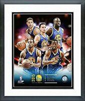 """Golden State Warriors 2015-16 NBA Team Photo (Size: 12.5"""" x 15.5"""") Framed"""