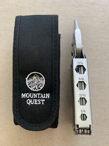 Kutmaster Mountain Quest Multi Tool with Sheath 1990s USA Made Sheat Bit Driver!