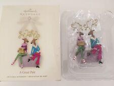 2008 Hallmark A Great Pair Reindeer Shoe Shopping Christmas Tree Ornament New