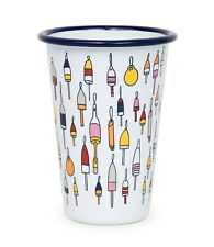 Crow Canyon Home Fishs Eddy Enamelware 14 Ounce Tumbler, Buoys