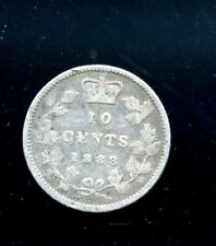 1888 Canada 10 Cents VG DCD566