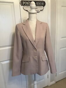 Used New Look Ladies Trouser Suit Pale Pink Pin Striped Fabric Sizes 8/12