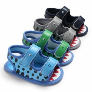 Baby Boy Sandals Girl PU Crocodile Animal Multicolor Cotton Soft Anti-Slip Sole