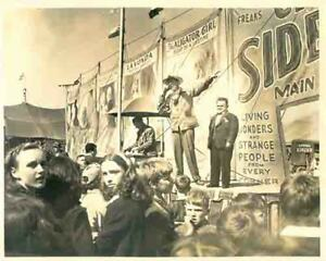 Vintage sideShow   Freakshow Carnival barker Circus  photograph photo POSTER