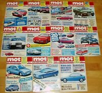 11x MOT 1984 auto-journal Autos Oldtimer Sammlung Zeitschrift Auflösung Hefte