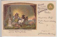 (112840) AK Gruss aus der Residenz Hannover, alter Vorhang im Hoftheater 1899