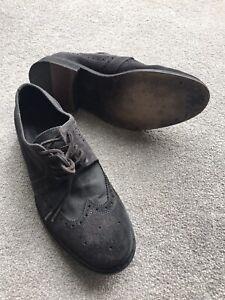 AllSaints Men's Castor Brogue Shoes (UK Size 8/ Europe 42) Black