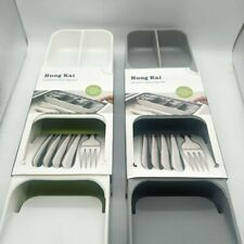 Drawer Store Compact Cutlery Organiser tray for Knife Spoon Fork Space Saver