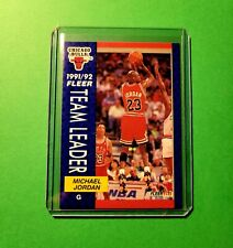 Michael Jordan 1992 Fleer Team Leader #375 Chicago Bulls GOAT
