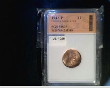 1942-P US Lincoln Wheat Cent, Very High Grade Copper Penny (US-1026)
