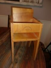 Vintage Toy Doll High Chair Wood Wooden