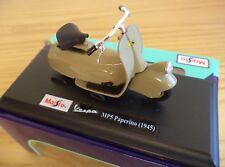 Maisto Vespa Scooter Model, 1:18 Diecast Scooter Model, Vespa MP5 Paperino 1945