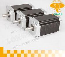 【Free Ship】3PCS NEMA34 Stepper Motor 1232OZ-IN 8.7NM,5.6A,4leads CNC LONGS
