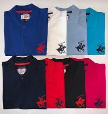 NEW Mens BH Polo Shirt Top, Short Sleeve Pique Designer T-Shirt Tee Holiday Golf