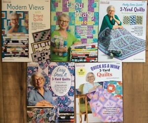 FABRIC CAFE- 3 YARD QUILT BOOKS-  YOUR CHOICE OF BOOK