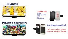 Pikachu Pokemon Anime Collage Inspired faux leather phone case for iPhone