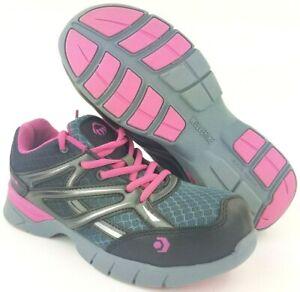 Wolverine Jetstream CarbonMax Women's Sz 6 EW Safety Toe Grey/Pink Sneakers EUC